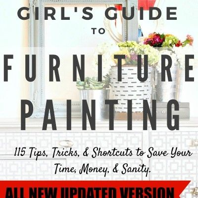 It's Furniture Painting Tips on Tuesday! In case you are new here I share one tip from my eBook: The Lazy Girl's Guide to Furniture Painting e