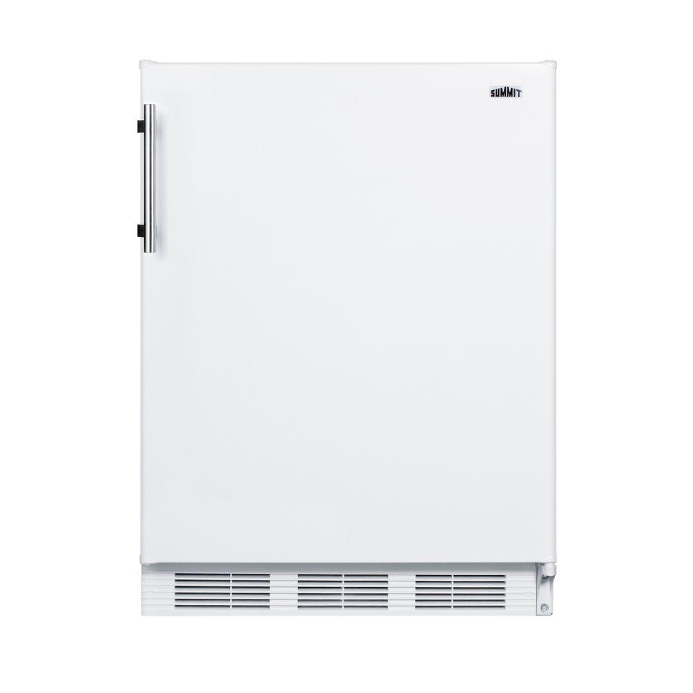 Summit Appliance 24 In W 5 5 Cu Ft Freezerless Refrigerator In White Ff61biada Compact Refrigerator Freezerless Refrigerator White Refrigerator