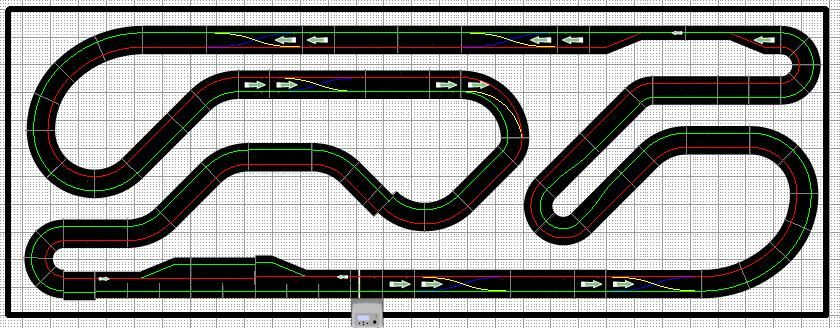 Slot Car Track Design Google Search Racebanen Boekenplank