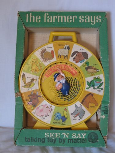8ab5d912a1813 Vintage 1965 Mattel The Farmer Says See N Say With Original Box ...