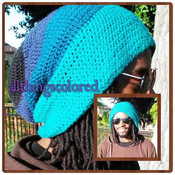 A beanie for your locs or dreadlocs. Male or Female. Message me the size of your head or you will get the one-size option (which is pictured).