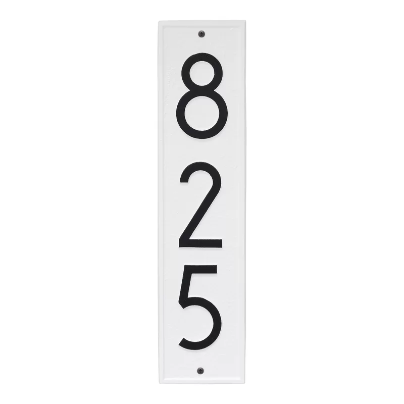 Delaware Modern Personalized Vertical 3 Line Wall Address Plaque In 2020 Whitehall Products Address Plaque Personalized Wall