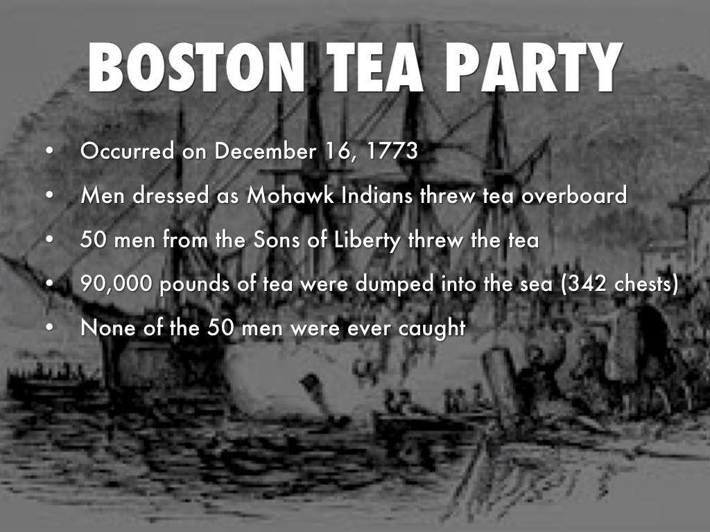 Boston Tea Party Vocabulary