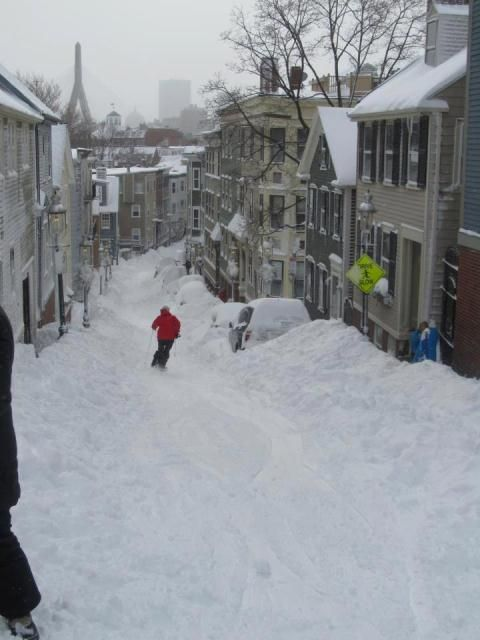 Boston post blizzard. I wish I had thought of getting out on my skis.