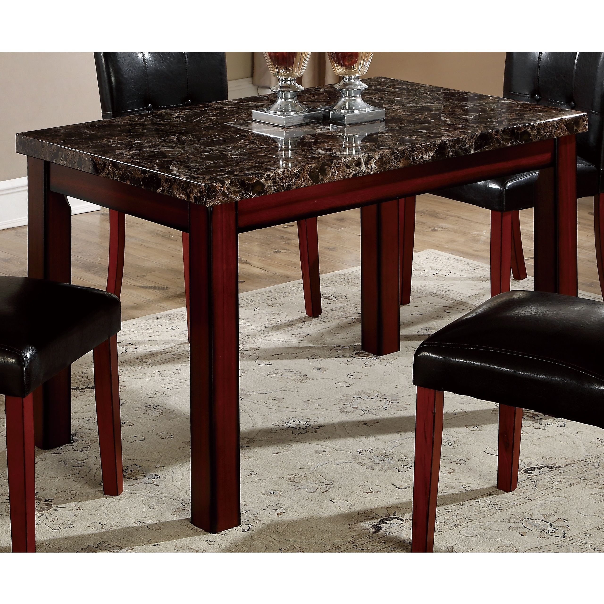 Global faux marble cherry oak square dining table products global faux marble cherry oak square dining table watchthetrailerfo