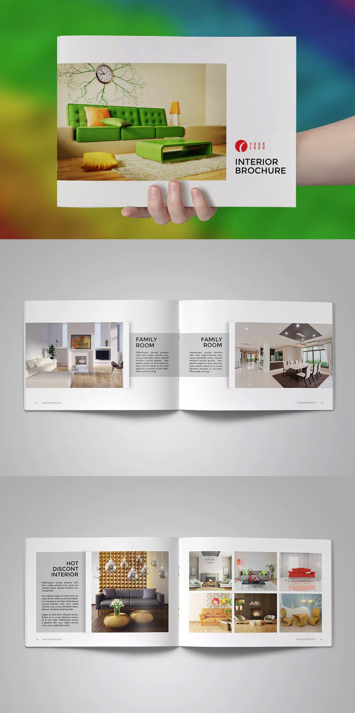 Interior Design Catalog Brochure Template Indesign Indd Interior