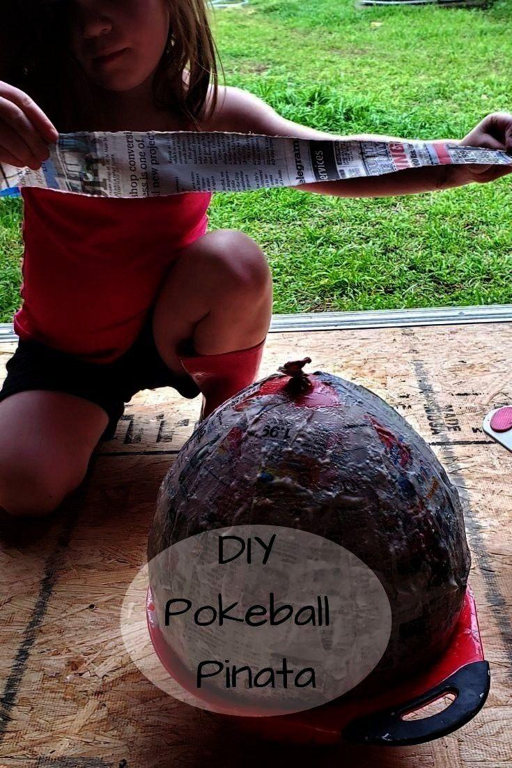 Pinata DIY Pinata Pokeball  How to plan a DIY Pokemon Party  Pokemon theme party decorations DIY Pinata Pokeball  How to plan a DIY Pokemon Party  Pokemon theme party dec...