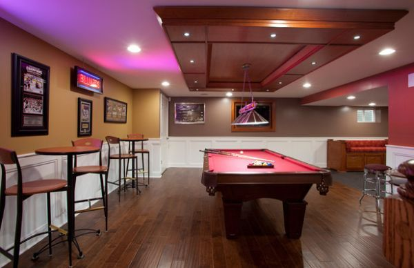 Elegant Basement Game Room Ideas