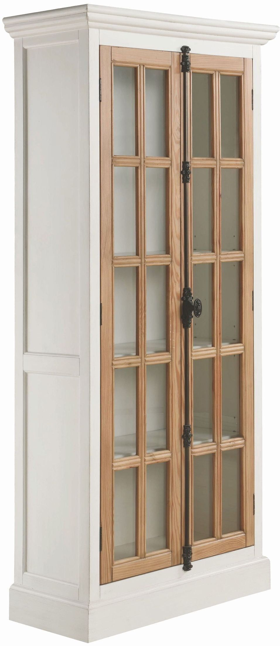 950965 Antique White Curio Tall Cabinet Tall Cabinet White Curio Cabinet Antique French Doors