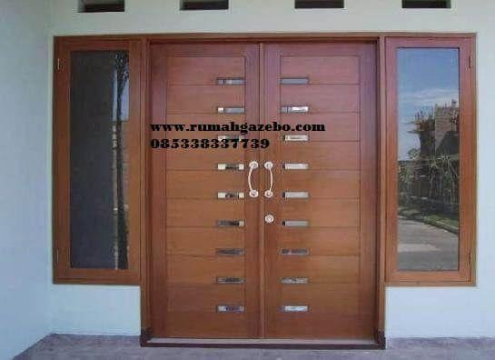 Pintu Minimalis 2 Pintu Kupu Kupu Model Pintu Rumah Kupu Tarung Kayu Jati Harga Murah Awet Dan Tahan L Home Door Design Door Design Modern Double Door Design