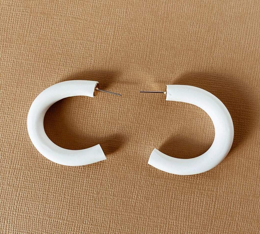 EnergynSoul Studio Ali Hoop White Earrings in 2020