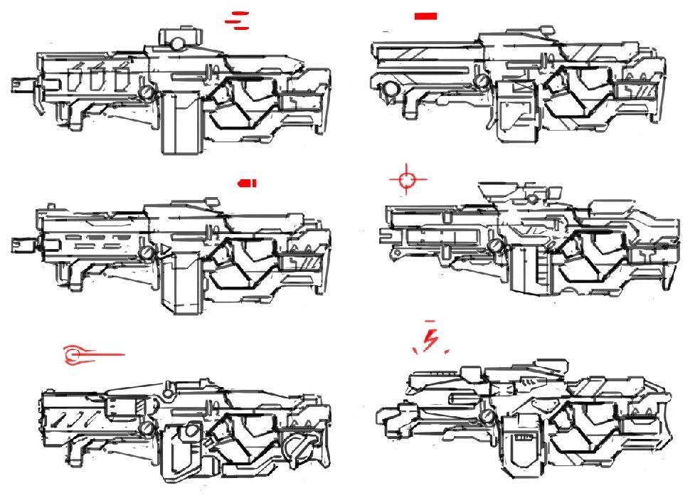 artstation sketches, eldar safin weapon pinterest sketches