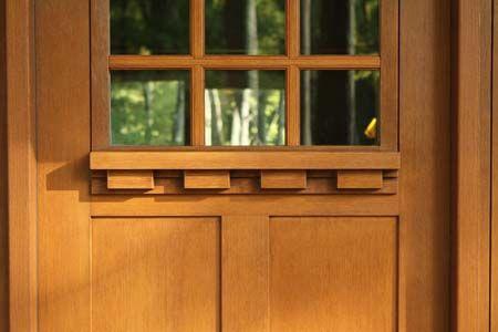 The fiberglass fir grain texture on this Clopay Craftsman