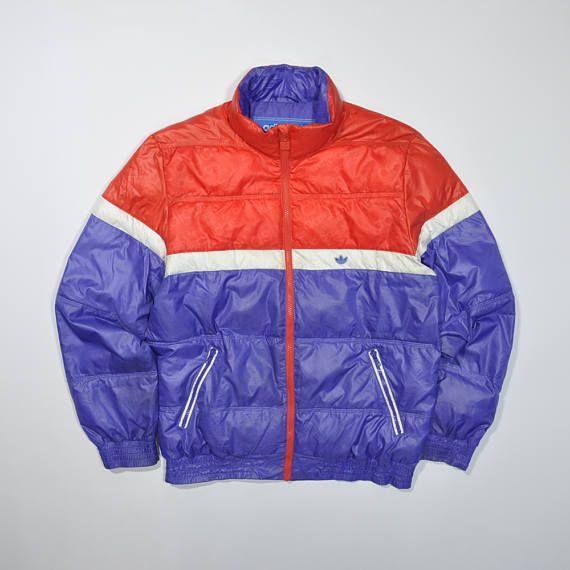 8b29d92b3 Rare Vintage 90s ADIDAS Winter Snow Jacket / ADIDAS Puffer Puffy Coat Jacket  / ADIDAS Windbreaker Multi Color / Streetwear Color Block