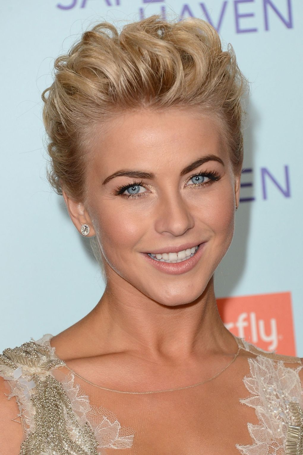 Julianne Hough S Hair Makeup History Really Short Hair Formal Hairstyles For Short Hair Evening Hairstyles