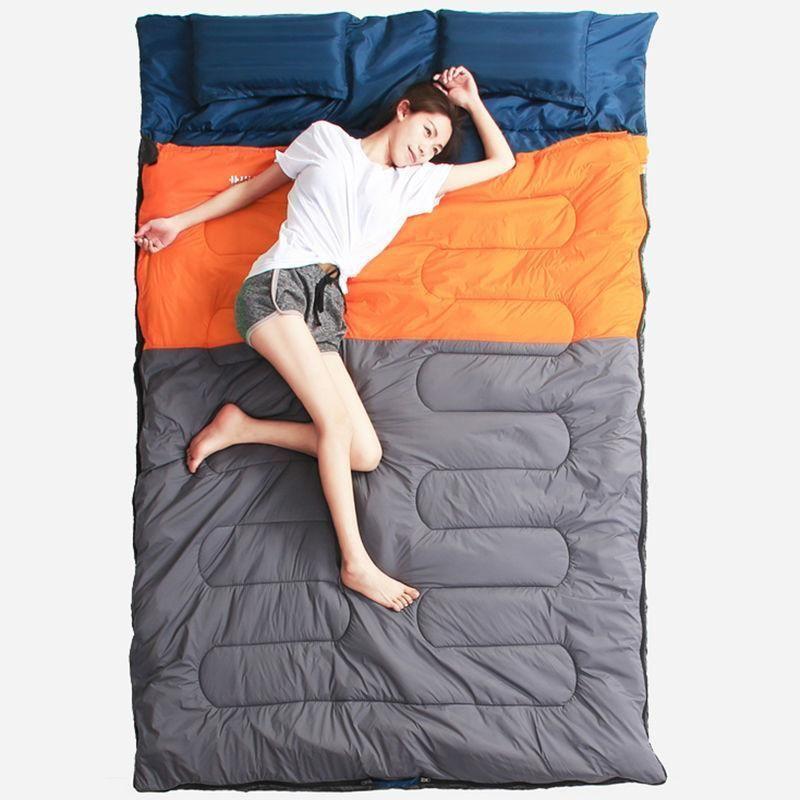 Warm Double Sleeping Bag Ultralight Portable 3 season