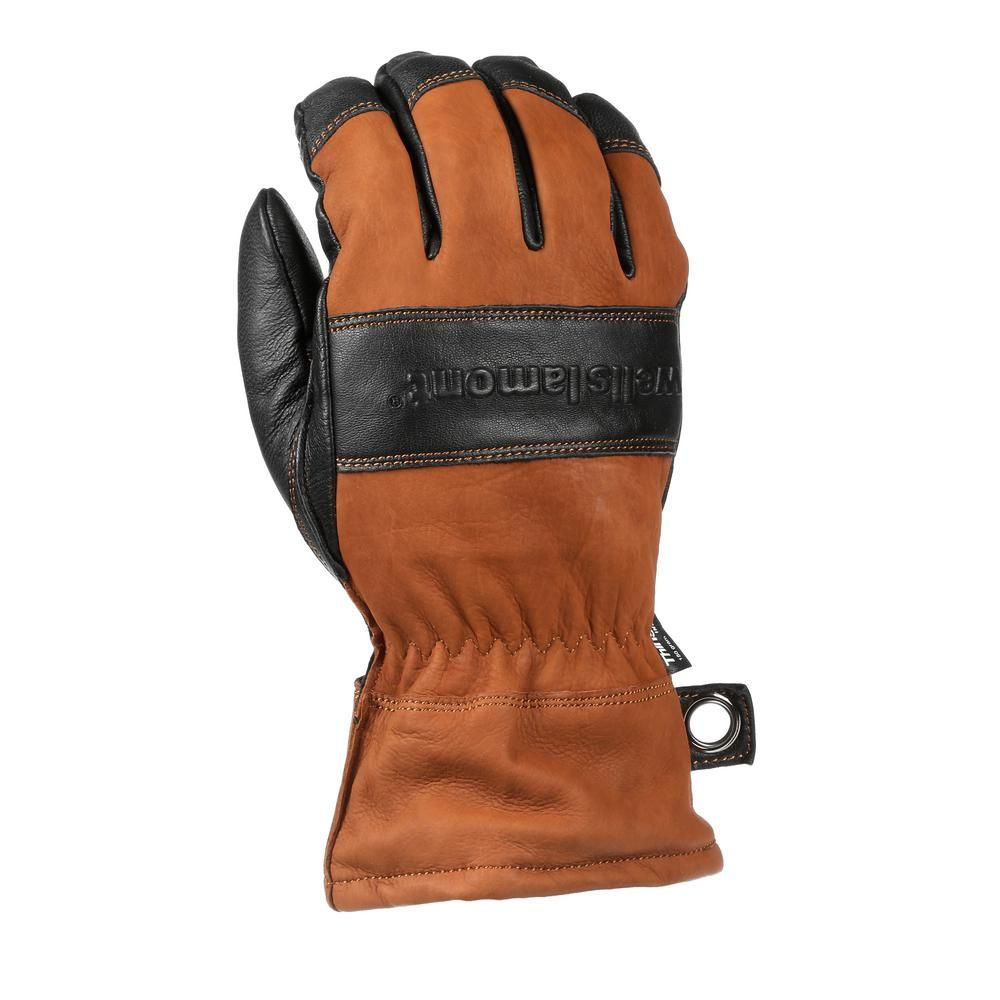 Mens gloves extra large - Men S Extra Large Hydrahyde Full Grain Leather Work Gloves Water Resistant