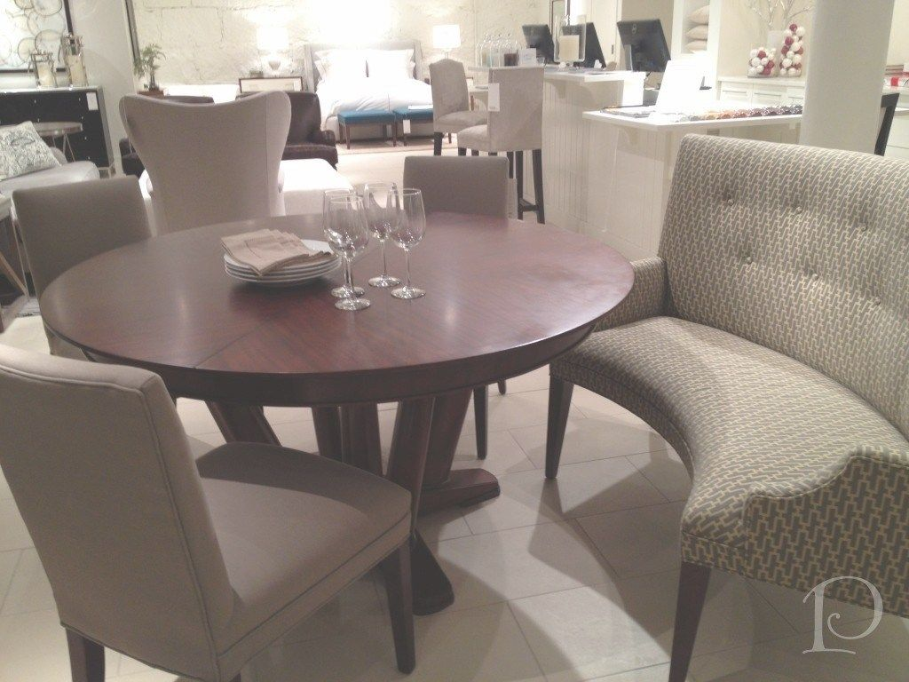 Curved Settee For Round Dining Table Beautiful Dining Room Table Bungalow Dining Room Settee Dining