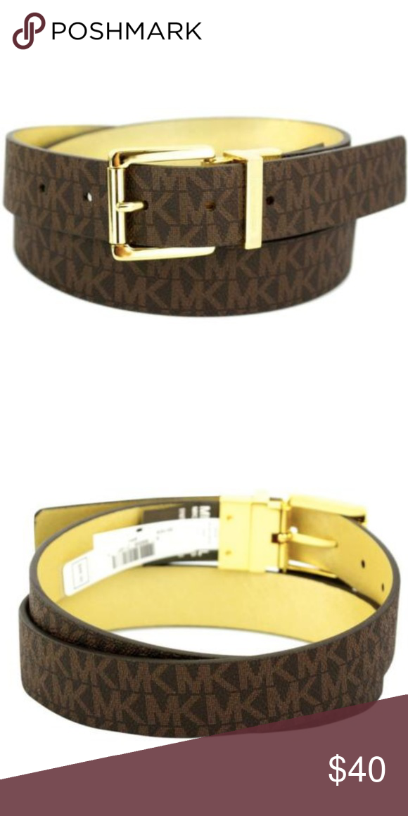 c778edaea4c6 Michael Kors Logo Premium Leather Reversible Belt Michael Kors Women s MK  Logo Premium Leather Reversible Belt