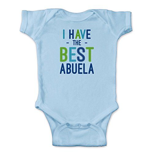 Personalized I Have The Best Abuela Infant Bodysuit Light Blue  12 Months *** Read more  at the image link.Note:It is affiliate link to Amazon.