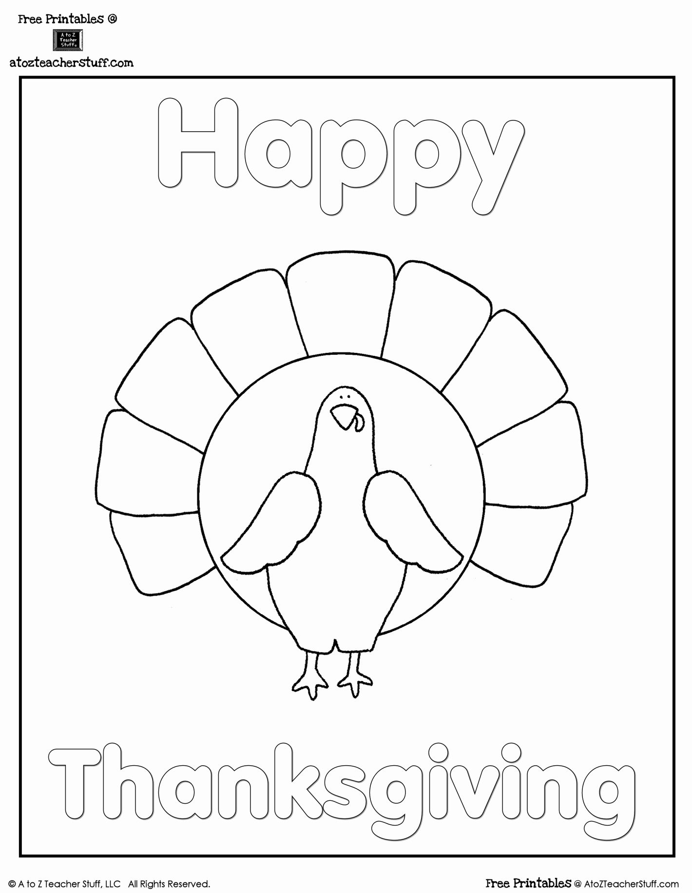 Happy Thanksgiving Coloring Pages Printable di 2020