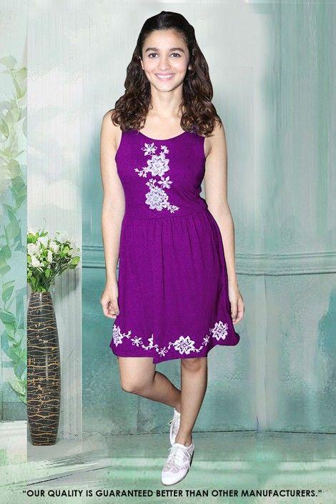 Readymade Purple Western Wear Dress - 30052