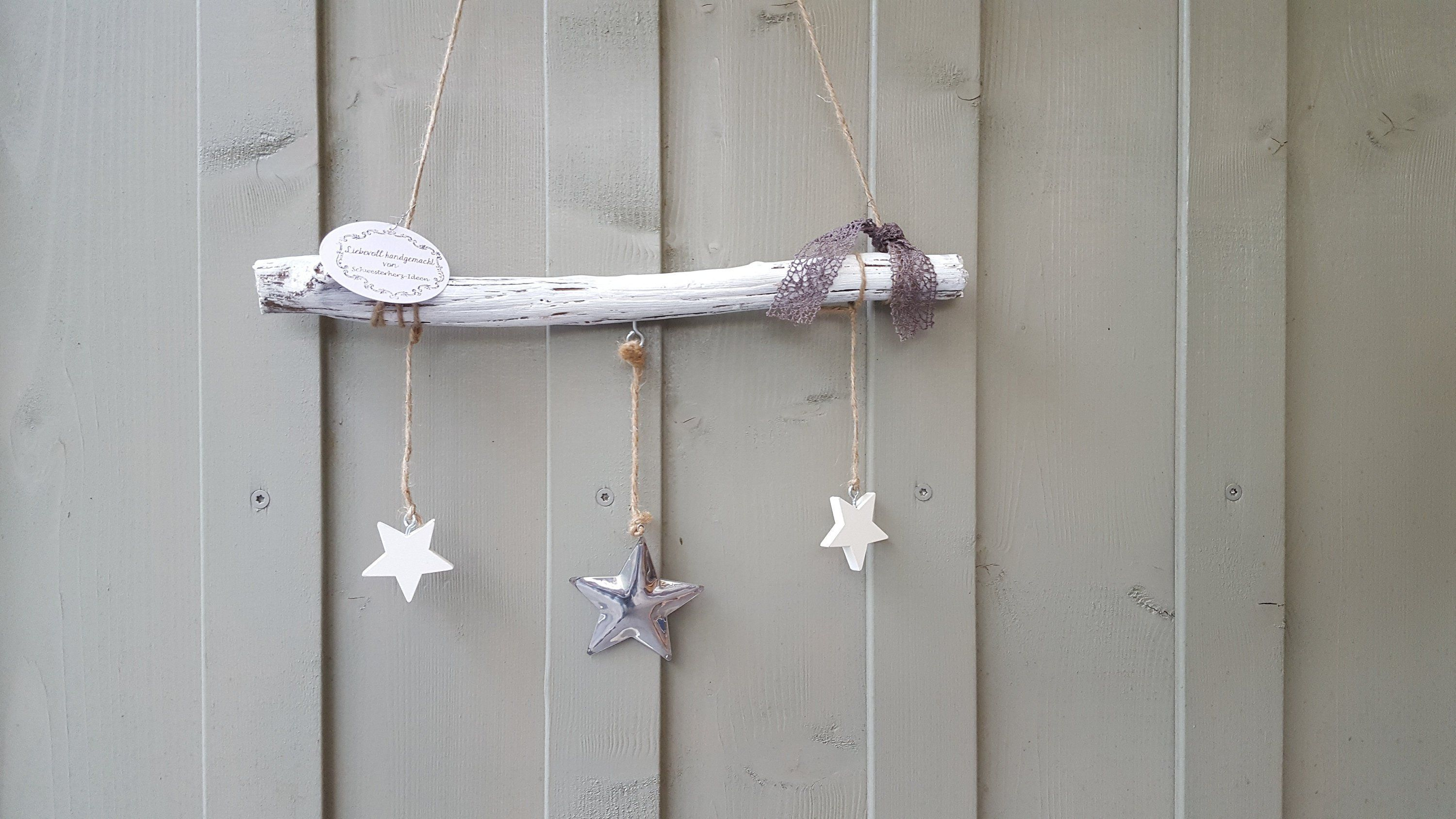 Hängedeko Fenster Window Decoration Stars In Shabby Look Vintage Decoration For