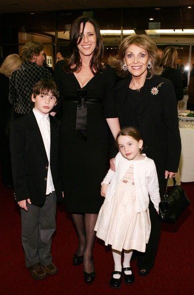 Actor Gregory Peck's daughter Cecilia and widow, Veronique Peck pose with Cecilia's children Harper and Ondine