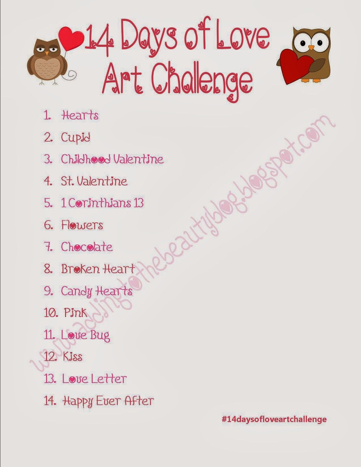 february drawing challenge - Google Search   Writing