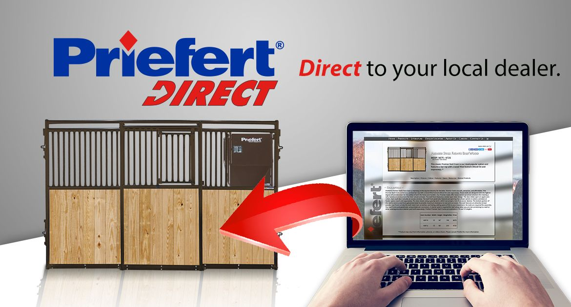 Whatever your equipment needs, we'll help you create your custom order and have it shipped Direct to your local dealer. Priefert's experts can provide CAD drawings to make sure everything fits. These drawings help ensure that stalls fit into existing barns and that new barns are built to custom fit the stalls. Visit the website today at https://www.priefert.com/