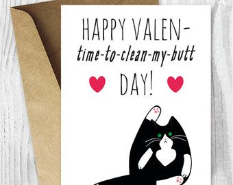 Schön Printable Valentines Day Card Cat Valentineu0027s Day Card By Miumicat