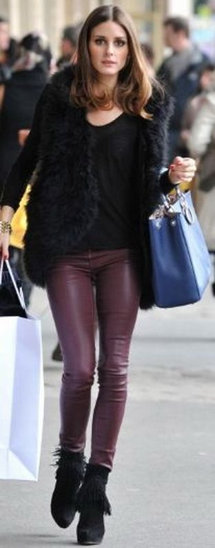 Current/Elliott Leather Ankle Skinny - as seen on Olivia Palermo