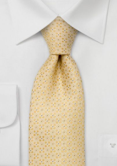 bows-n-ties.com yellow floral silk tie