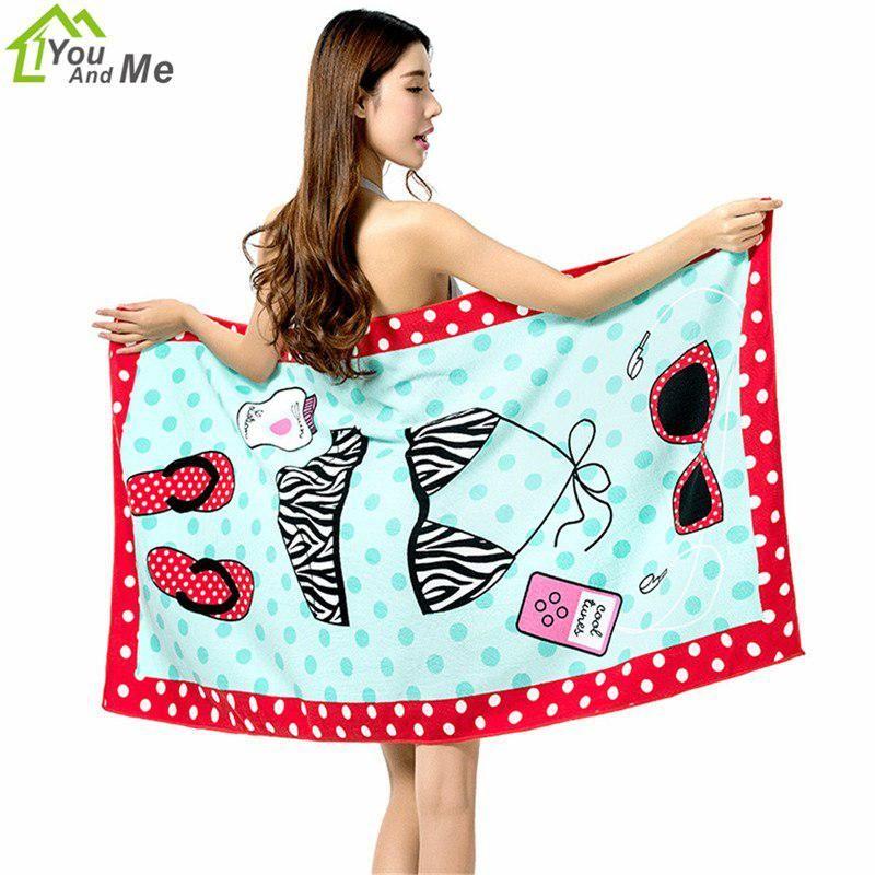 You And Me Spring Bikini Beach Towel Bath Towel 100 Microfiber