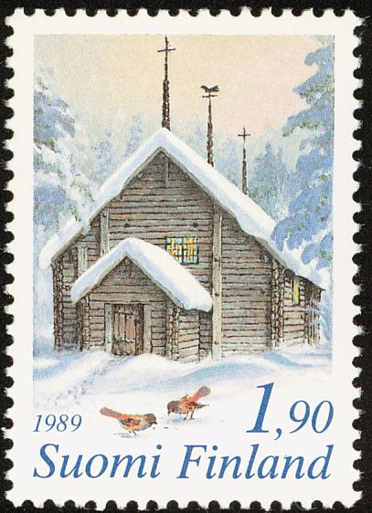 christmas stamp 1989 christmas in the countryside