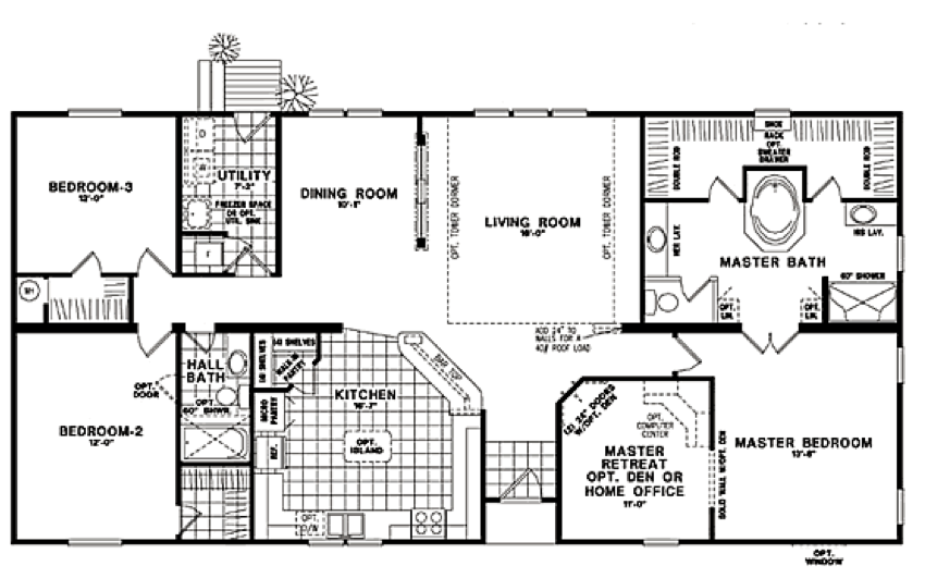 Classic Ranch Home Floor Plans Modular Home Plans Modular Home Floor Plans House Floor Plans