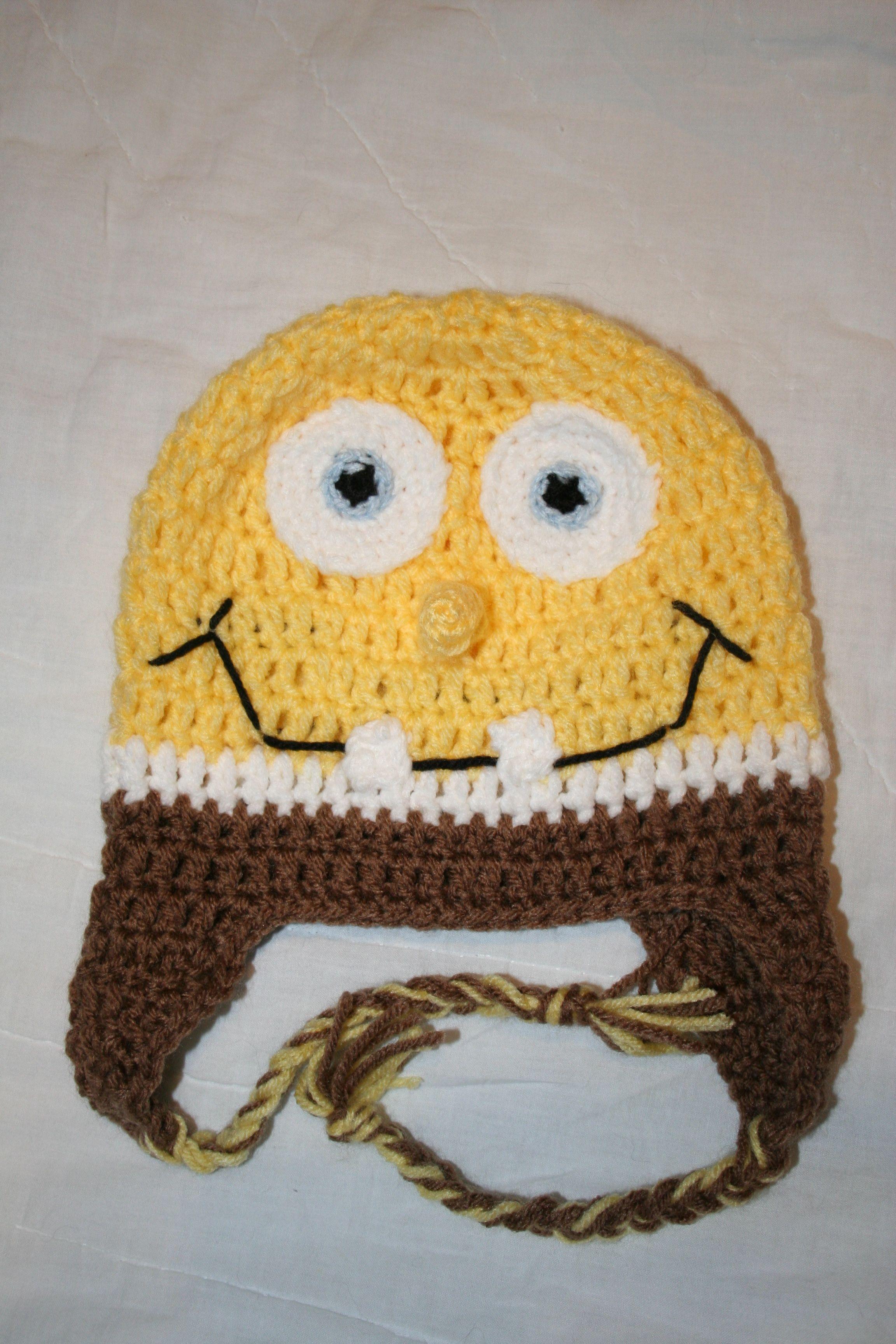 Spongebob inspired hat- child 4-6yrs