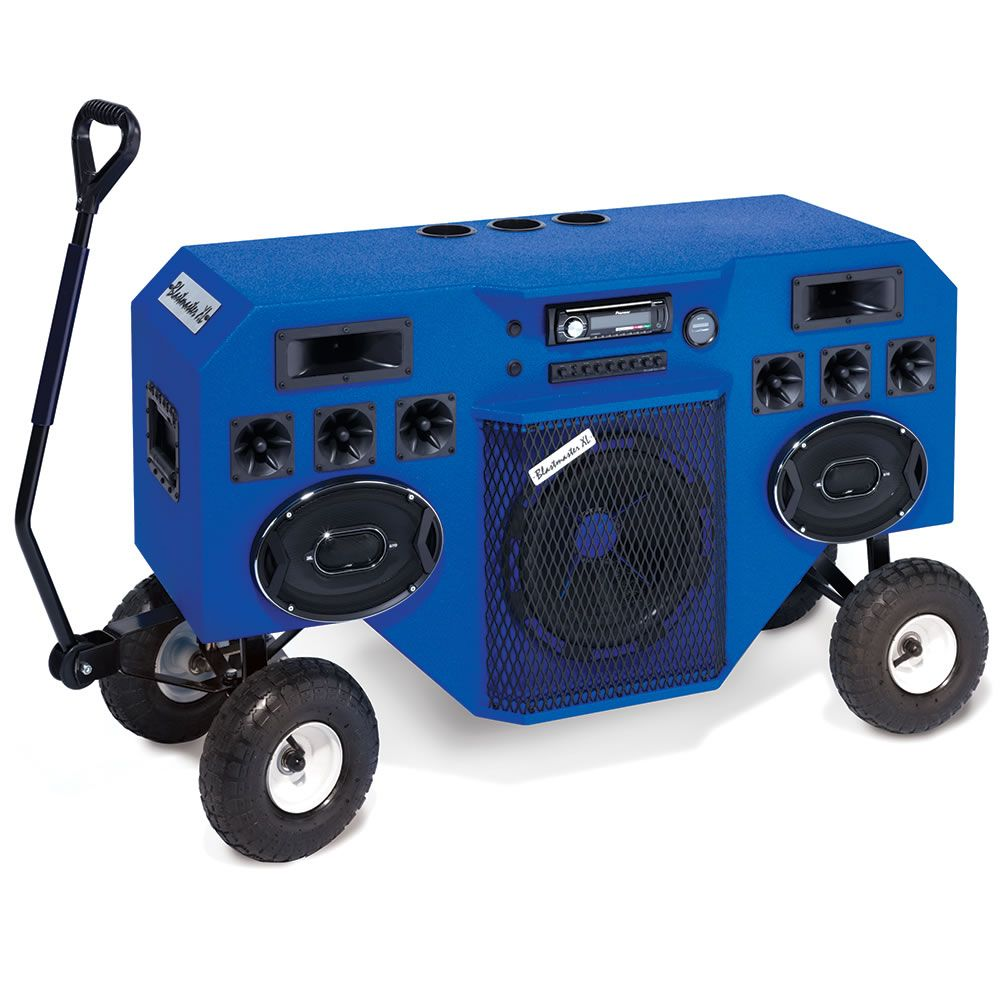Backyard Music System the mobile blastmaster - hammacher schlemmer - this is the portable