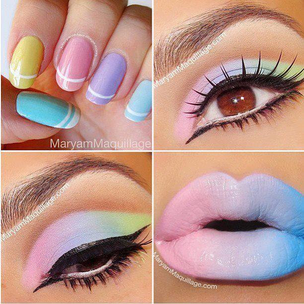 Pastel Makeup and Nails | make up | Pinterest | Pastel makeup, Make ...