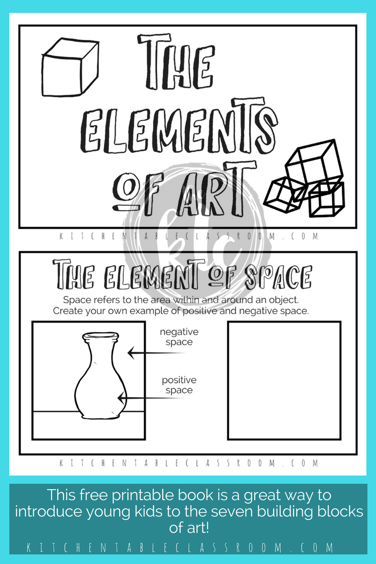Elements of Art for Kids with free printable book | Art lessons, Art ...