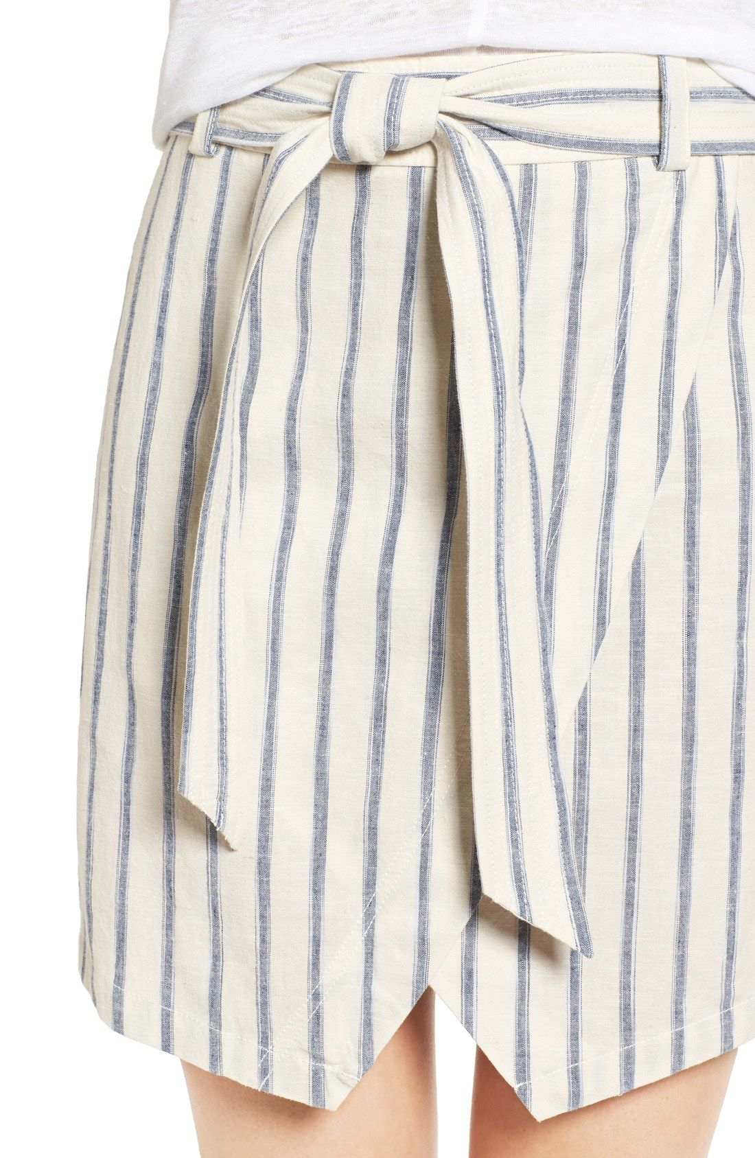 Madewell Striped Linen Skirt // this would be a cute take on 4th of july style