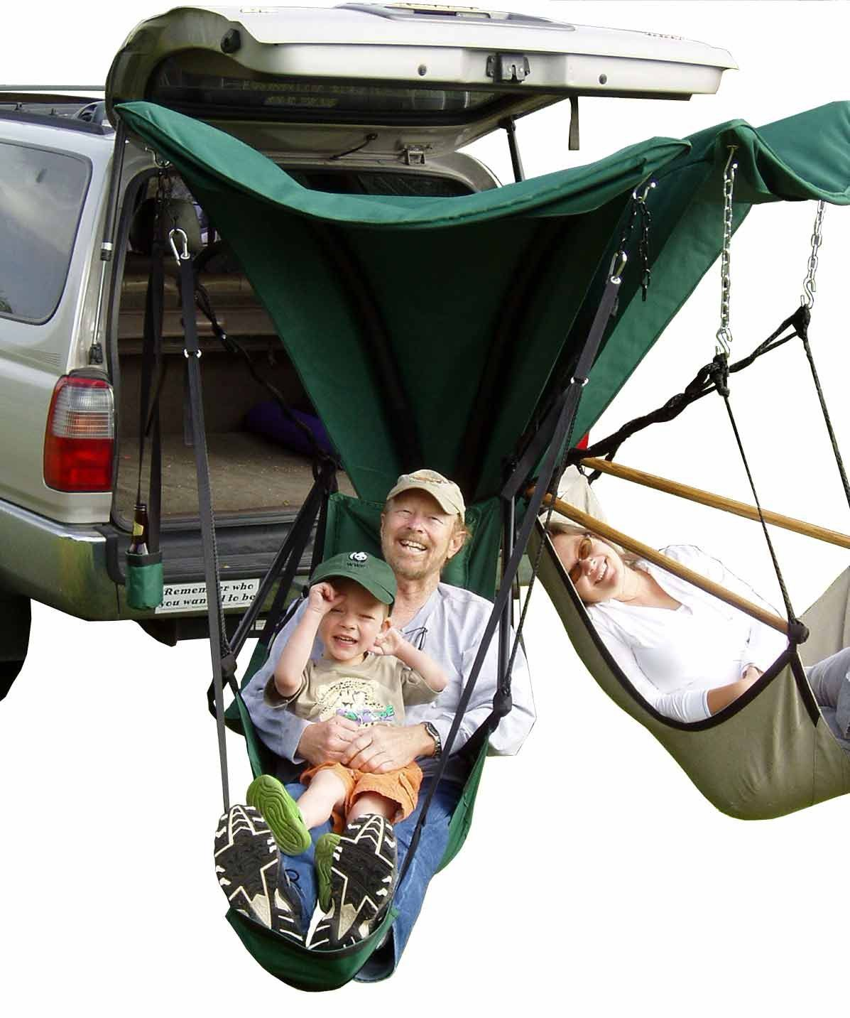 Green Eggs And Hammocks Hamx2go Trailer Hitch Hammock Chair Stand Best Camping Gear Camping Gear Hammock Chair Stand
