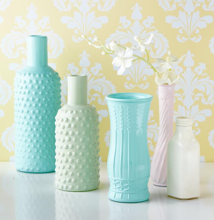 Valspar Milk Glass Spray Paint is now available at Lowe's. | Spray painting glass. Milk glass. Spray paint colors