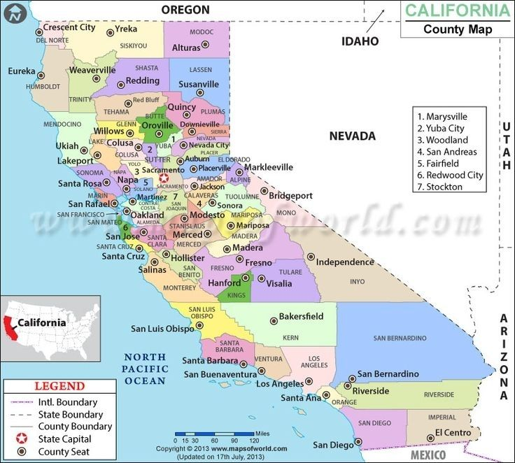California Map Of Counties Large World California State Map - Us-map-with-counties-and-cities