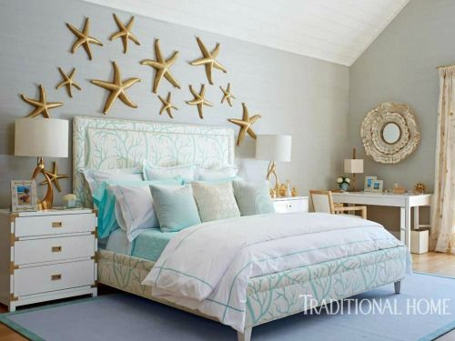 Above The Bed Wall Decor Ideas With A Coastal Beach Theme Beach Themed Bedroom Beach House Bedroom Bedroom Decor
