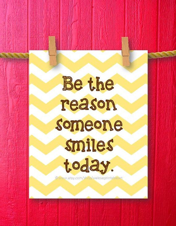Motivational Wall Decor, Be the Reason Someone Smiles Today ...