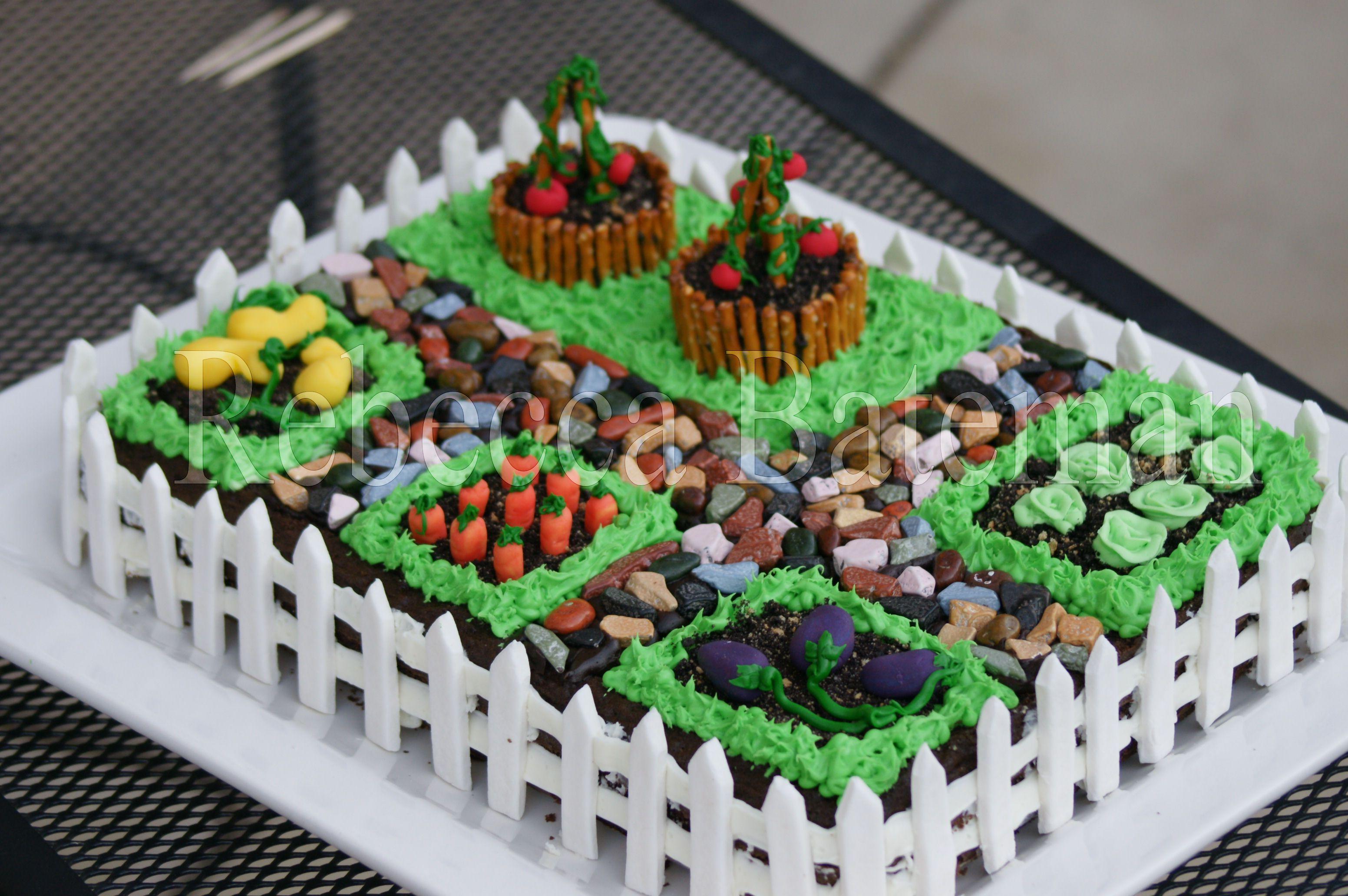 Garden Party Cake Images : gardening birthday party Let Them Eat Cake Pinterest