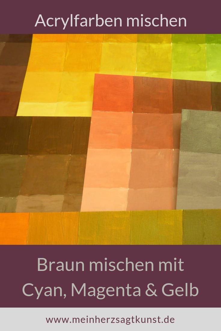 Braun Mischen Mit Den Grundfarben Mohn Malerei Grundfarben Und