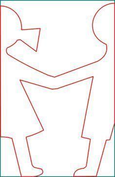 afbeeldingsresultaat voor sjabloon poppetjes slinger