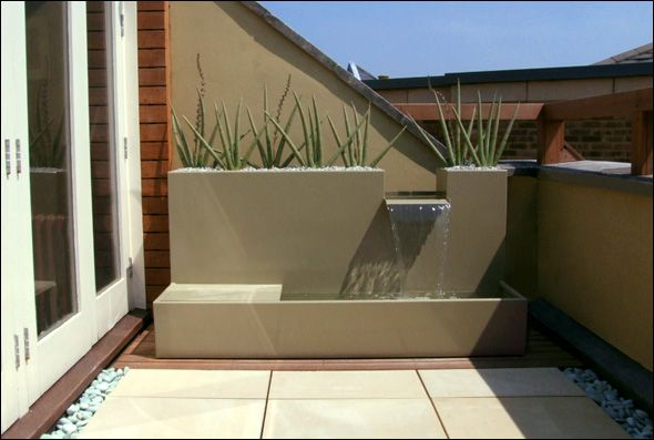 Small terrace design London contemporary garden designs